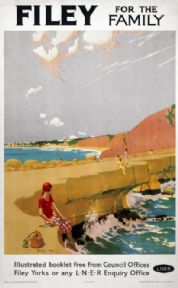 Filey for the Family, Yorkshire. Vintage LNER Travel poster by Charles Pears.